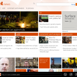 MSN News on Windows 8 Pro