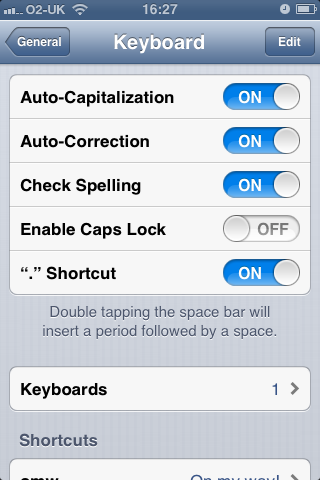 iOS6 Auto-Correction