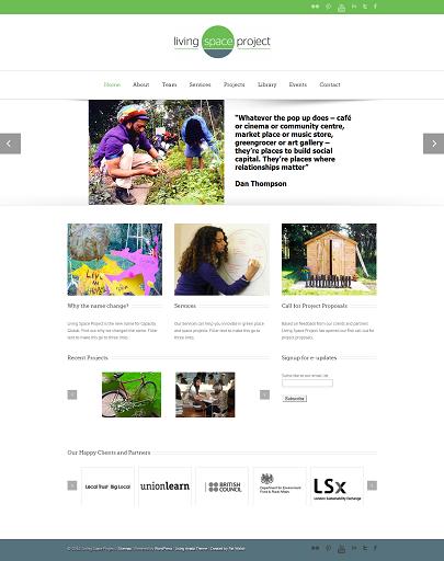 Living Space Project wordpress website