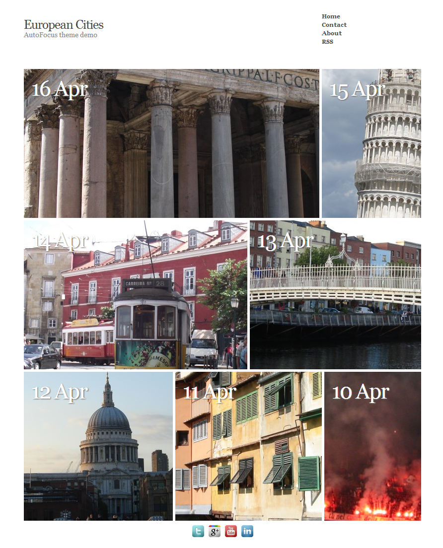 European Cities - AutoFocus theme demo - WordPress Website