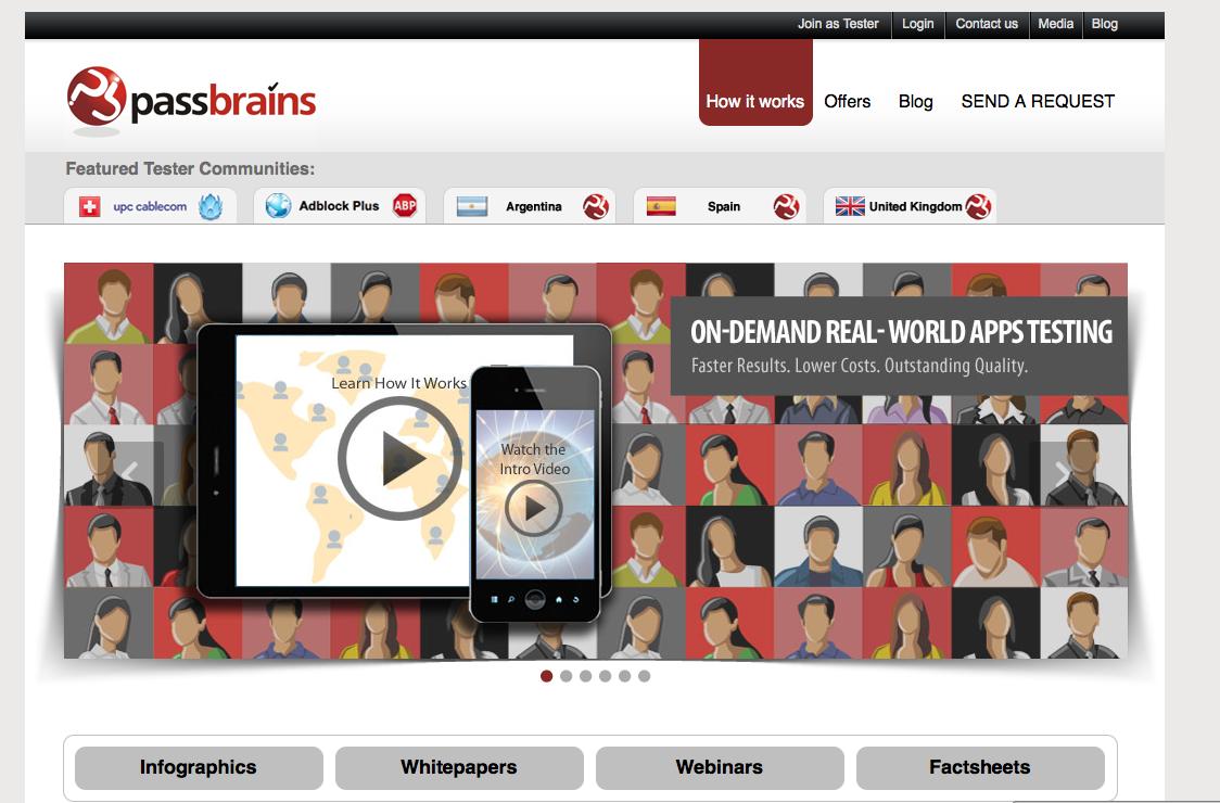 Passbrains-homepage