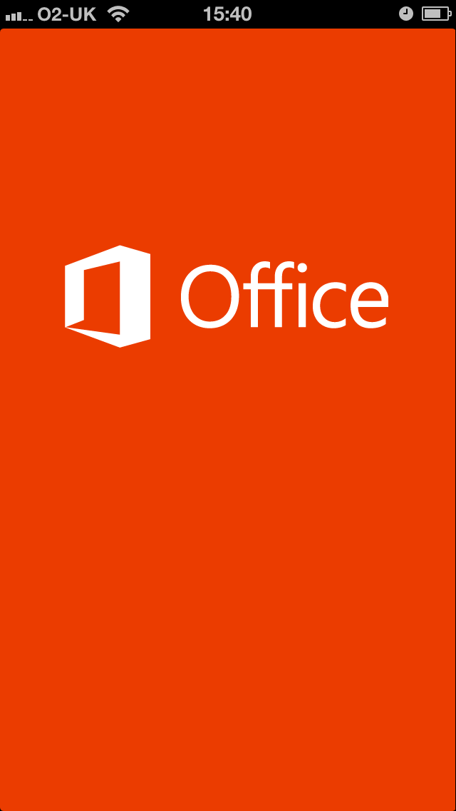 Office 365 Mobile - startup