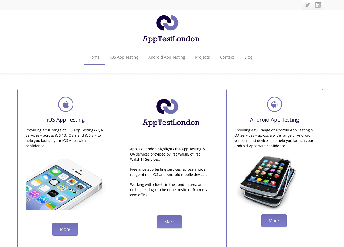 AppTestLondon Website