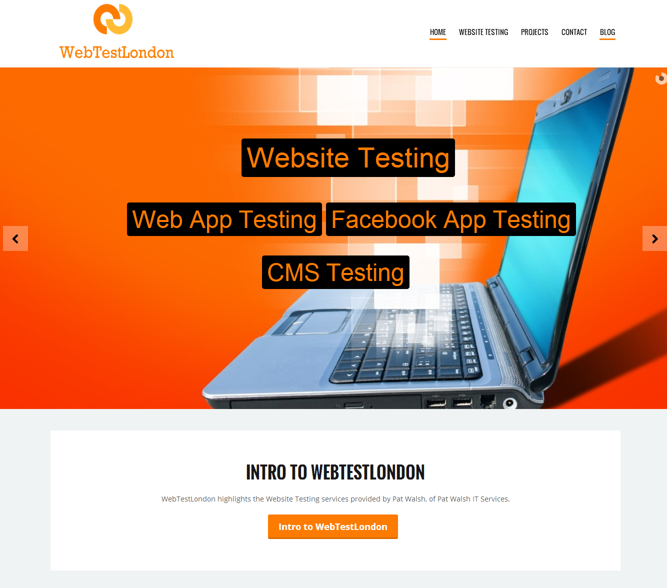 WebTestLondon Website