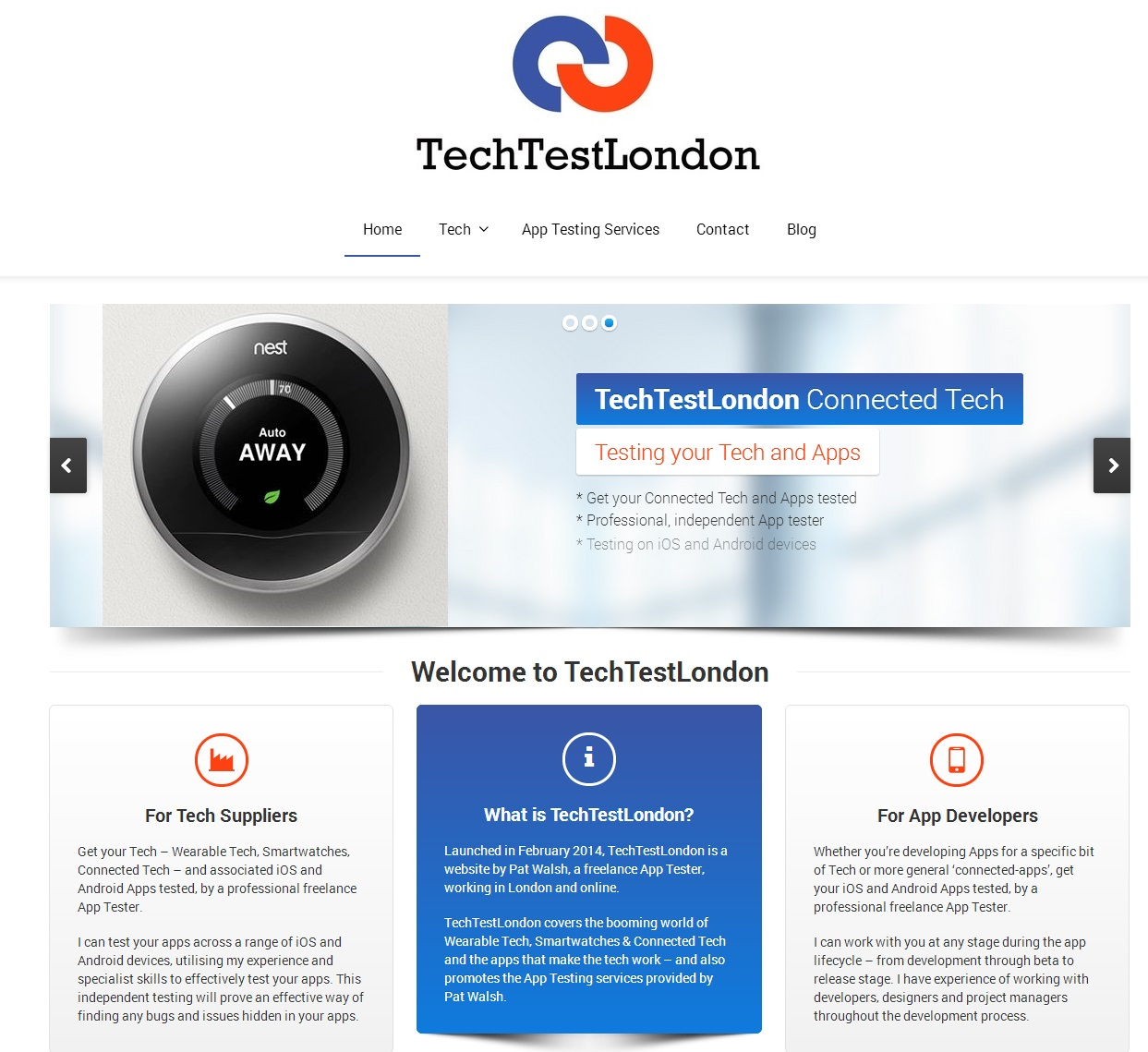 TechTestLondon WordPress website
