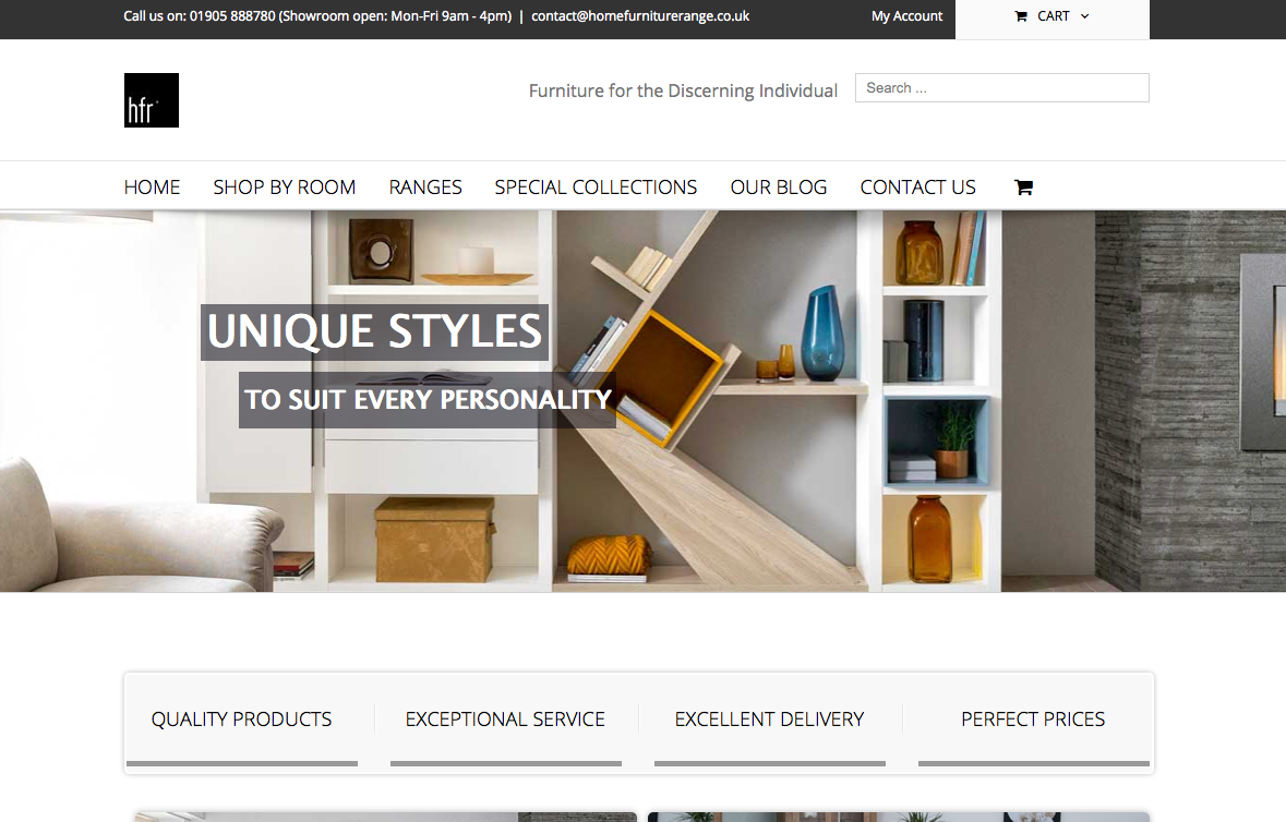 Home Furniture Range Website Testing Pat Walsh It Services