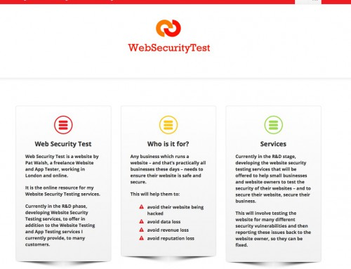 Web Security Test website
