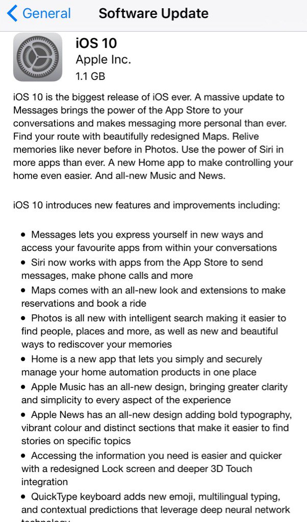 iOS 10 update is now available #iOS10 #iOS #Apple…
