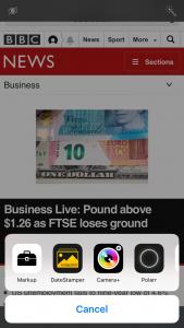 Annotating iOS 10 screenshots with Markup editor