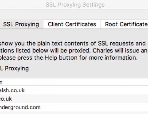 Using Charles Proxy to test Apps and Websites using SSL
